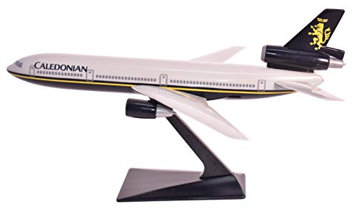 Caledonian DC-10 Airplane Miniature Model Plastic Snap-Fit 1:250 Part#ADC-01000I-007
