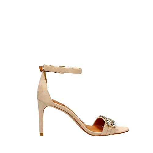 Black 35 Sandalo Donna Black Beige For Gioiello Camoscio What 166 pOAx0