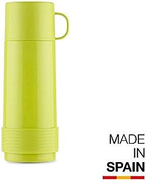Valira Colección 1969 - Botella de vidrio aislante de doble pared con vacío de 0,5 L hecha en España, color verde