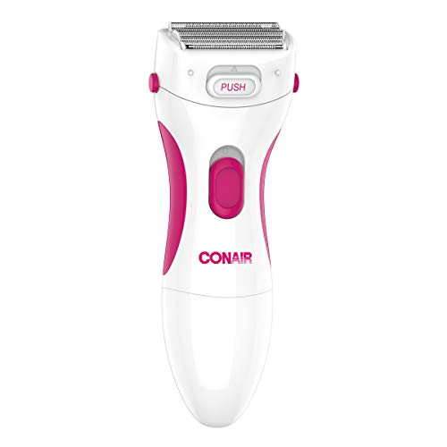Conair Satiny Smooth Ladies Twin Foil Shaver with Pop-Up Trimmer, Battery Operated, Use Wet or Dry
