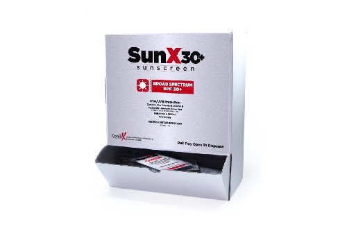 Sunx30+ Sunscreen Lotion Packets 100-Count Dispenser Box ()