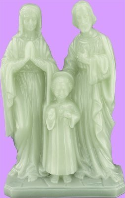 Space Age plastics Luminous Holy Family Statue by Space Age Plastics