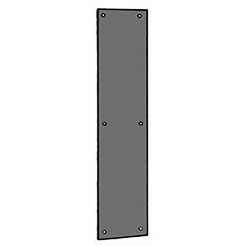 Ives Residential 820010B315 Solid Brass 3-1/2'' x 15'' Push Plate Oil Rubbed Bronze Finish