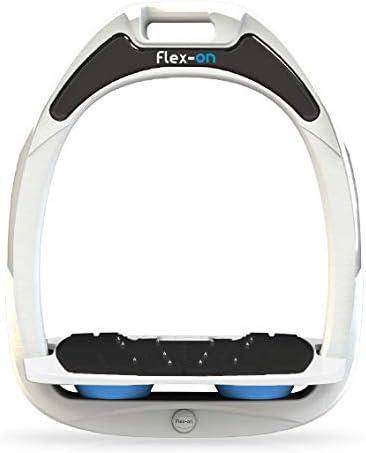 【Amazon.co.jp 限定】フレクソン(Flex-On) 鐙 ガンマセーフオン GAMME SAFE-ON Mixed ultra-grip フレームカラー: ホワイト フットベッドカラー: ホワイト エラストマー: ライト ブルー 06128