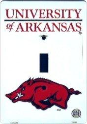 Arkansas Razorbacks Metal Light Switch Plate
