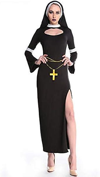 LDSSP Disfraz De Monja De Terror Vestido De Monja De La Virgen ...