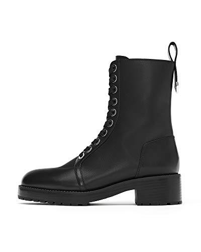 (Zara Women Micro-Studded Leather Biker Ankle Boots 5164/301 (38 EU | 7.5 US | 5 UK))
