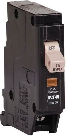 Eaton Corporation CHF115 Cutler Hammer 15A Single Pole Circuit Breaker