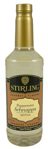 Stirling Gourmet Peppermint Schnapps Coffee Flavoring Syrup