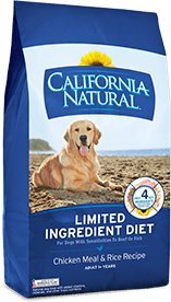 Chicken and Rice Adult Dry Dog Food California Natural 26 lbs