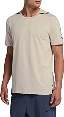 0cb8ef27815 Amazon.com: Nike Men's NTK Dry Max Training Tee (Desert Sand/Hyper ...