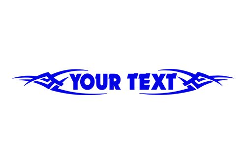 esign #106 Your Custom Text Personalized Customized Lettering Tribal Windshield Decal Sticker Vinyl Graphic Rear Back Window Banner Car Truck SUV | 36