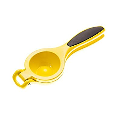 Lemon Lime Squeezer by Kitchen Bitz - Strong Aluminium Citrus Juicer - Non-Slip Grip Handles