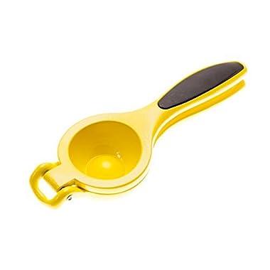 Lemon Lime Squeezer by Kitchen Bitz - Strong Aluminium Citrus Juicer - Non-Slip Grip Handles