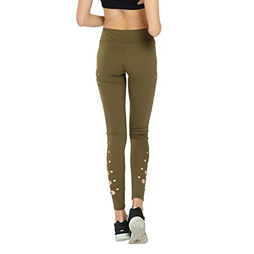 iHPH7 Yoga Pants for Women High Waisted Gym Sport Leggings Ladies Sports Sexy Circle Hollow Yoga Pants Bottom Pants Outdoor Fitness Pants M Brown