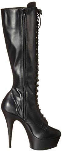 Pleaser Str Bottines 2023 blk Matte Schwarz Leather Femme Faux blk Delight Bqr7YB