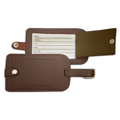 Dacasso Leather Luggage Tag, Chocolate Brown (A3498)