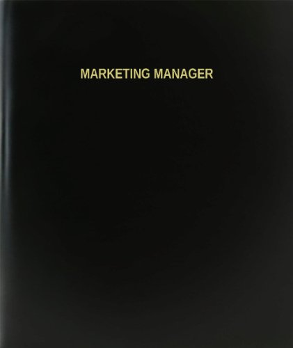 BookFactory® Marketing Manager Log Book / Journal / Logbook - 120 Page, 8.5''x11'', Black Hardbound (XLog-120-7CS-A-L-Black(Marketing Manager Log Book)) by BookFactory
