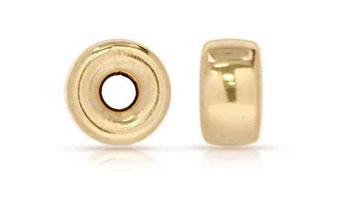 (14Kt Gold Filled Roundel Spacer Beads 3mm - 20pcs)