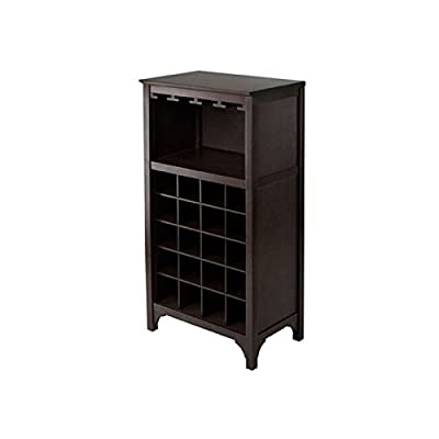 Winsome Ancona Modular 20 Bottle Wine Cabinet with Glass Rack