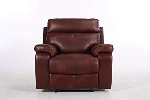 Halter Bonded Leather Recliner Sofa Chair - Modern Reclining