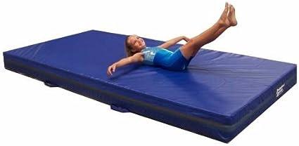 Amazon Com Team Sports Gymnastics 4 Skill Throw Landing Mats 4 X6 Blue Vinyl And 1 8 Density Poly Foam Sports Outdoors