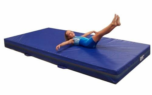 Team Sports Gymnastics 4″ Skill Throw Landing Mats 4'x6′, Blue Vinyl and 1.8 Density Poly-Foam