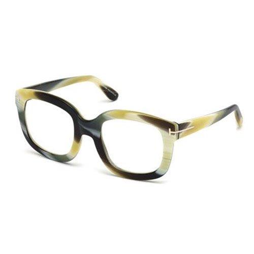 Tom Ford Women\'s Ft5315 Brown Horn Frame Plastic Eyeglasses: Amazon ...