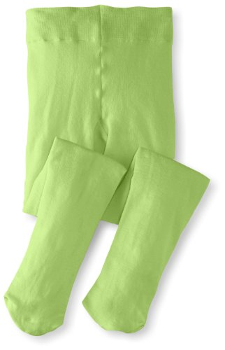 Jefferies Socks Little Girls'  Pima Cotton Tights, Lime, 2-4 Years