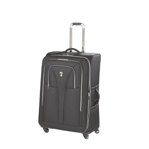 Atlantic Luggage Compass Unite 29 Inches Expandable Upright Spinner Suiter, Black, One Size, Bags Central