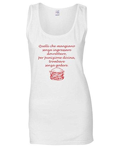 T1023 Geek Ingrassare Cool Fun T Bianca Che Donna Mangiano Quelli Senza shirtshock Canottiera Iq7azS