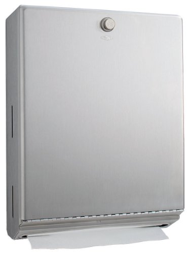 "Bobrick 2620 ClassicSeries 304 Stainless Steel Surface Mounted Paper Towel Dispenser, Satin Finish, 10-3/4"" Width x 14"" Height x 4"" Depth"