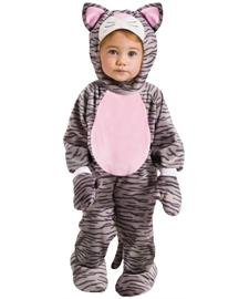 Fun World Girls Funworld's Grey Stripe Kitten Toddler Costume, Multicolor, Small