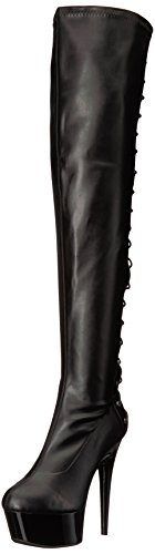 Ellie Shoes Women's 609-fare Engineer Boot, Black Polyurethane, 8 US/8 M US ()