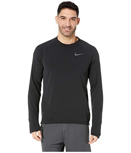 (Nike Men's Thermal Running Top Black Size Large)