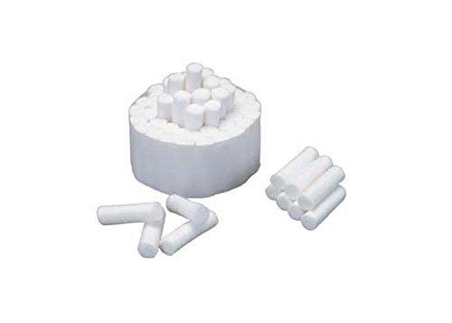 Crosstex DNAC Cotton Rolls, Advantage Plus, Non-Sterile, Medium, 1.5'' x 0.375'' Size (Pack of 2000)
