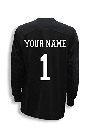 Diadora Enzo goalkeeper jersey personalized with your name and number - Black - size Adult XL