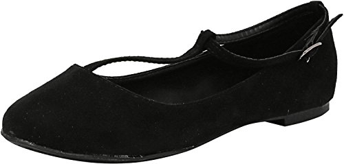 Breckelles Womens Cherry-12 Flat Shoe Nero