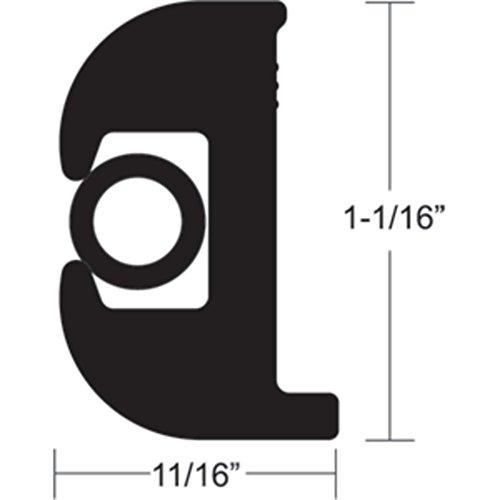 Rub Rail End (TACO Flex Vinyl Rub Rail Kit Black W/Black Insert - 70 feet 1 1/16 H x 11/16 W Marine RV Boating Accessories)