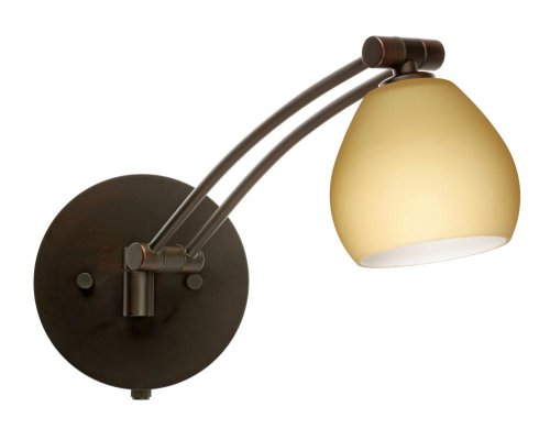 Besa Lighting 1WW-5605VM-BR 1X50W Gy6.35 Tay Tay Wall Sconce with Vanilla Matte Glass, Bronze Finish