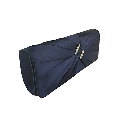 Glitter bags women Navy Aimira evening bag Hand clutch satin Wedding Party Bridal lady Bag qSA5wC4H