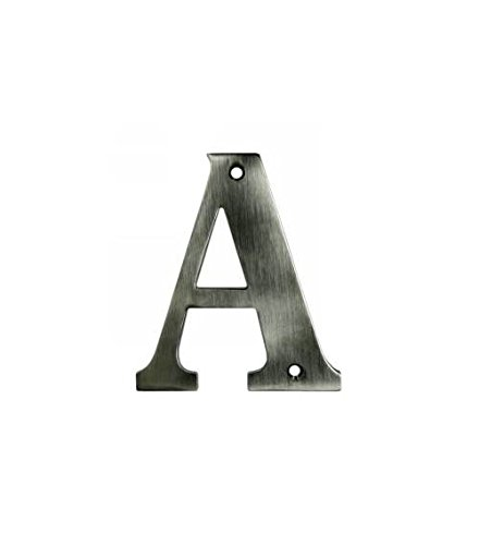 4 in. Solid Brass Residential Letter (Set of 10) (L - Oil Rubbed Bronze)