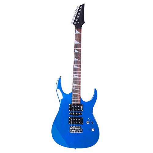 Jskjlkl Professional Electric Guitar with HSH Acoustic Pick-up (Color : Blue)