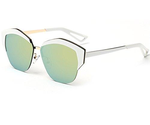 Heartisan Women's Fashion Cat Eye Half Frame Semi-rimless Sunglasses - Frame Sunglasses Wooden Australia