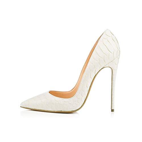 Pointé Simples De Chaussures Banquet Talons Bout De Serpent Hauts Femmes Fermé Fête Chaussures Mariage Soirée Super White Chaussures 4BCqd