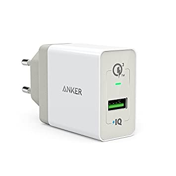 Anker PowerPort+ 1 Quick Charge 3.0 - Cargador de Pared con USB de 18 W para Galaxy S7, S6, Edge, Plus, Note 5, 4, LG G4, HTC One A9, M9, Nexus 6, ...