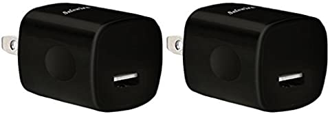 2PCS - Safewire 5W Single Port High Speed Universal USB Travel Power Adapter Home Wall Charger Plug for Apple iPhone, iPod, iPad, Samsung Galaxy Edge Note, LG, HTC, Google Nexus Pixel (Usb Power Adaptor Ipad)