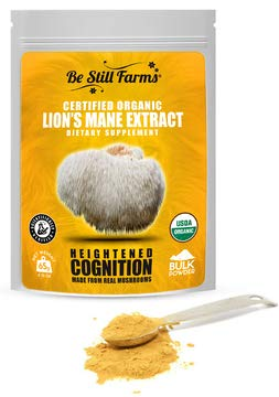 Be Still Farms Lion s Mane Powder 65g Real Mushrooms for Lions Mane Elixir or Lions Mane Tea from Organic Mushroom Farm – Lions Mane Powder Extract is The Ideal Smoothie Booster Powder