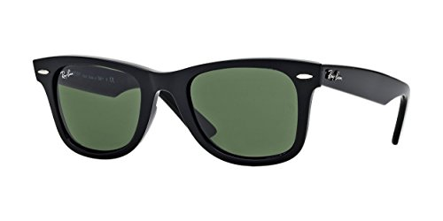 Ray-Ban WAYFARER - BLACK Frame CRYSTAL GREEN Lenses 50mm Non