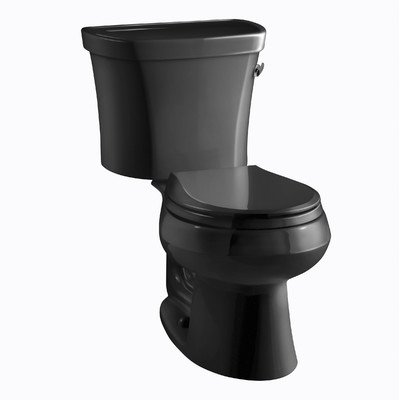 Kohler Wellworth Classic 1.28gpf Round-Front Toilet with Class Five Flushing Technology and Right-Hand Trip Lever